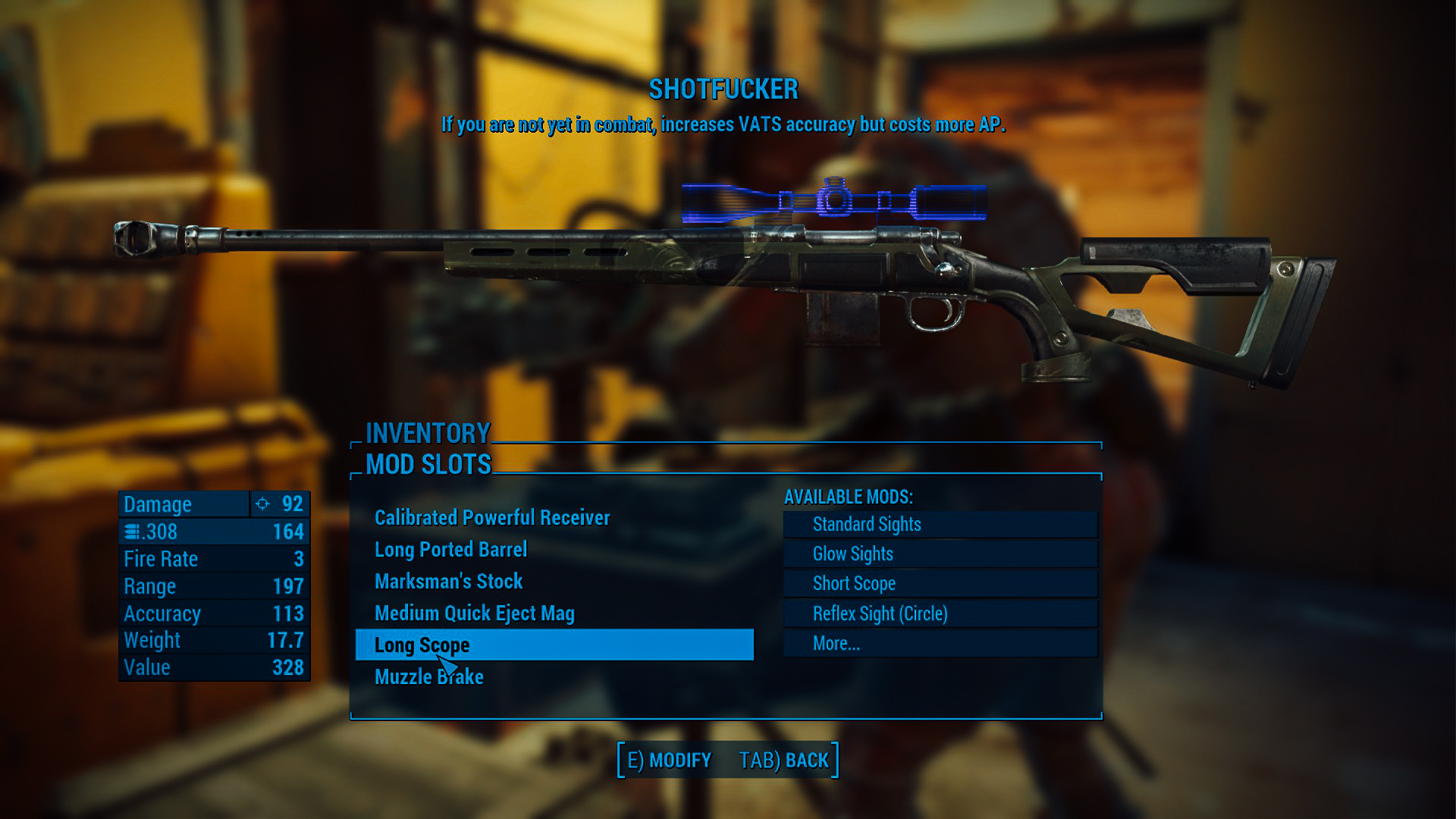My sniper rifle, Shotfucker...